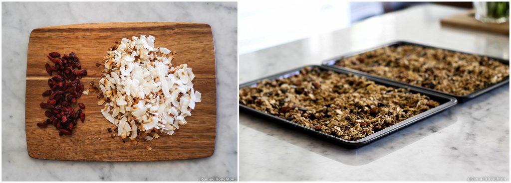 Homemade granola ingredients